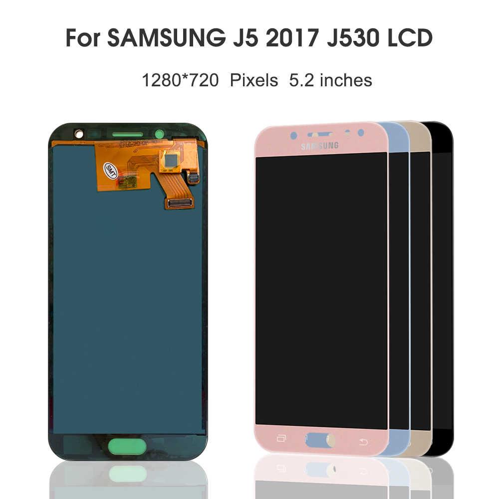 LCD لسامسونج غالاكسي J5 2017 J530 J5 برو SM-J530F J530M LCD شاشة تعمل باللمس محول الأرقام الجمعية لشاشة LCD J5 J530