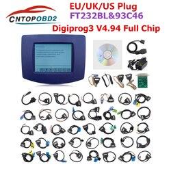 Najnowszy Digiprog III V4.94 Digiprog 3 przebieg programista Digiprog3 FTDI samochodu przebieg narzędzie do regulacji Digi Pro 3 pełny zestaw kabli