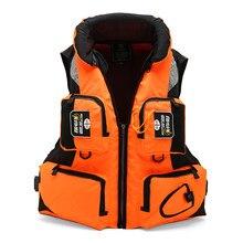 Gilet de sauvetage unisexe en Polyester, gilet de sécurité pour la natation, le Sport de plein air, le Kayak, le bateau, L-XXL