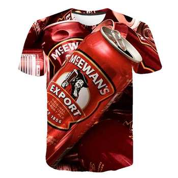 Summer Men 3D T-shirt Beer Time Short Sleeve O-Neck Fashion Funny 3D Printed T Shirt Casual Men Tops Tees Streetwear tshirt 2017 latest men t shirt fashion i love beer meeple style t shirt tabletop board game rpg