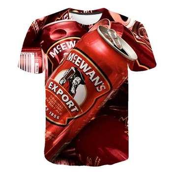 цена на Summer Men 3D T-shirt Beer Time Short Sleeve O-Neck Fashion Funny 3D Printed T Shirt Casual Men Tops Tees Streetwear tshirt