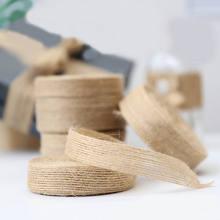5 м/лот лента из натуральной джутовой мешковины diy Свадебная