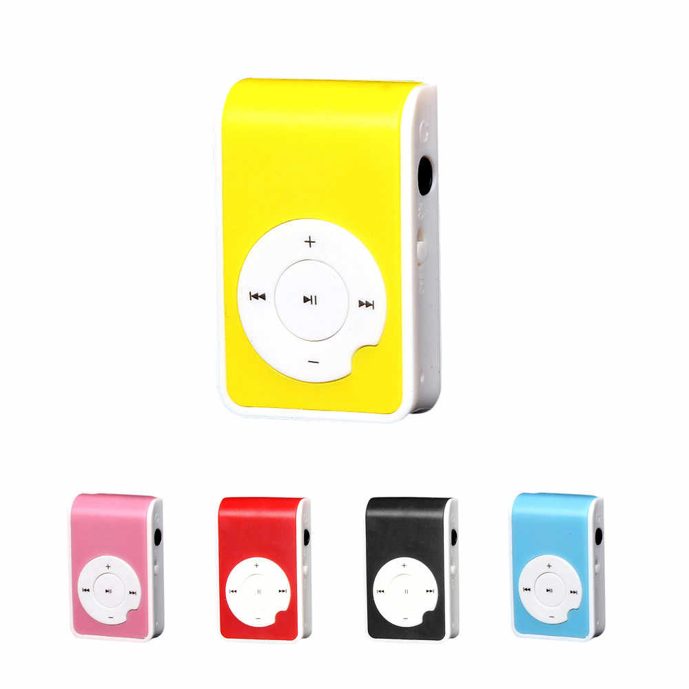 Ouhaobin MP3 Player Mini Media Player คลิปจอ LCD แบบพกพารองรับ USB Micro SD TF Card Music Media