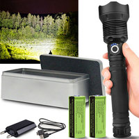 120000 LM USB Flashlight Lamp Powerful LED Flashlight Rechargeable Zoom Torch 18650 or 26650 Battery Indicator for Camping FDX99|Outdoor Tools| |  -
