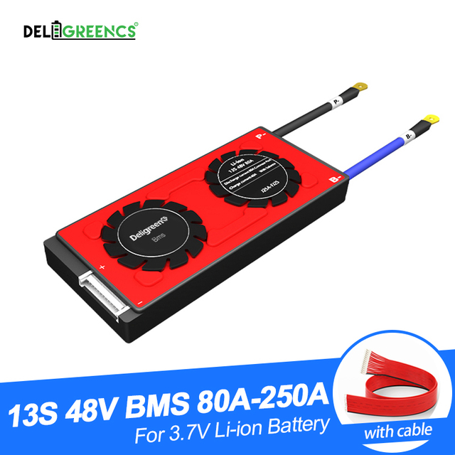 Deligreen 13S 80A 100A 120A 150A 200A 250A 48V PCM/PCB/BMS do akumulatora li po LiNCM 18650 akumulator litowo jonowy