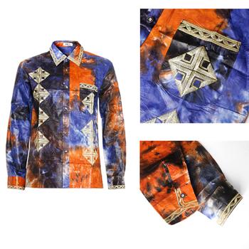 MD afryki mężczyźni odzież haft dashiki koszule z długim rękawem topy 2020 bazin afrykański nadruk T shirt tradycyjna modna odzież tanie i dobre opinie Poliester COTTON Afrykański Headtie Odzież afryka Tradycyjny odzieży KC61 KC47 african clothes african men clothes bazin riche man tops