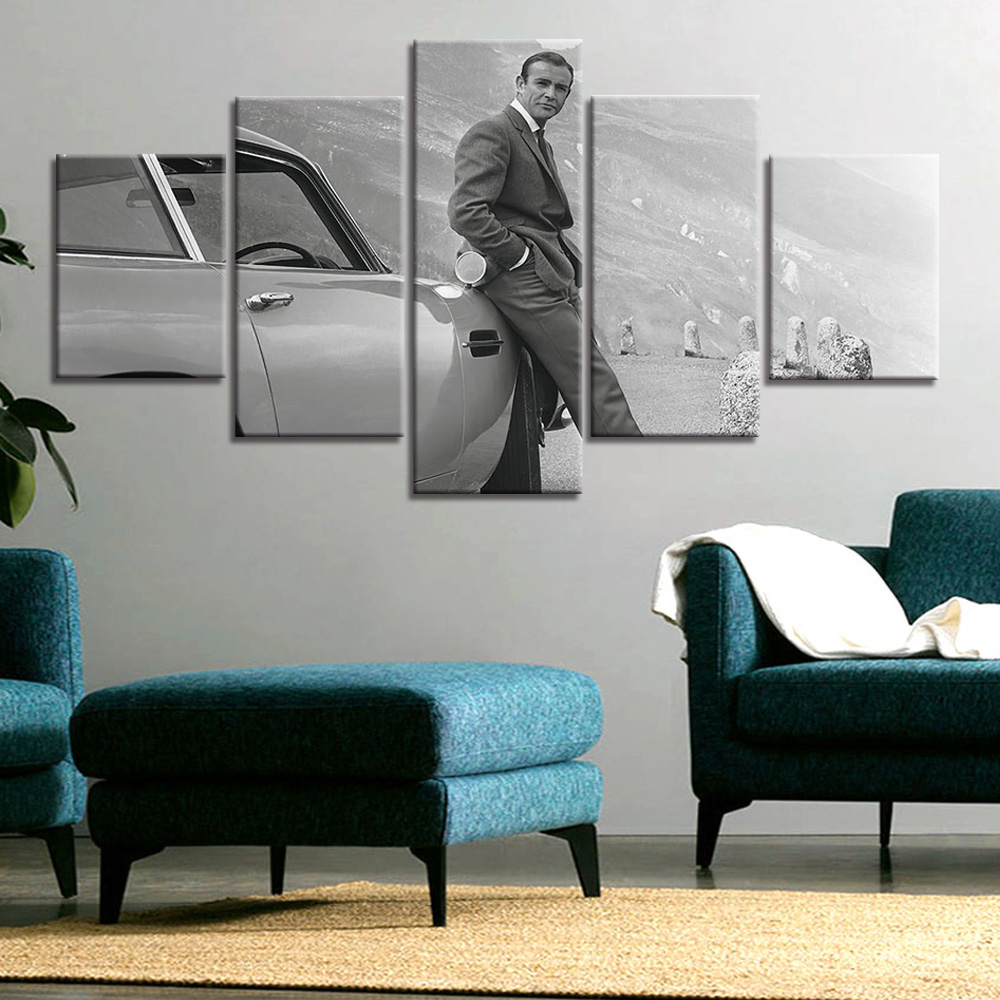 Canvas Painting Home Art James Bond movie Poster And Print Wall Art Picture Home Decor image