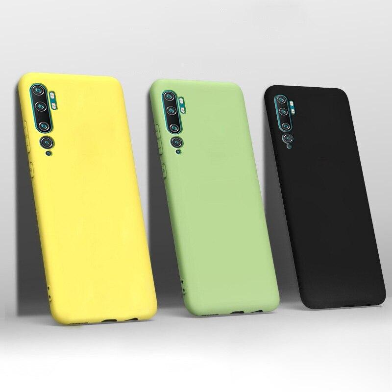Liquid Silicone Case For Xiaomi Mi Note 10 Lite Case Bumper Shockproof Cover Case For Xiaomi Mi CC9 Pro 5G Note 10 Pro Lite Case