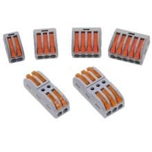 PCT-212 213 214 215 компактный провод проводка соединитель-проводник клеммный блок с рычагом 0,08-2,5 мм2
