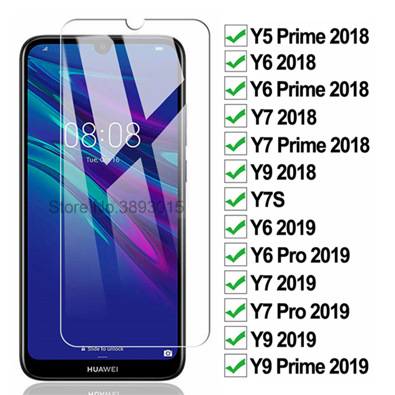 3D Tempered Clear Glass Screen Protector For Huawei Y7 Y5 Y6 Prime 2018 Y7s 4