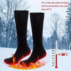 1/2/3 Pairof Elektrische Verwarmde Sokken Verwarmde Inlegzolen Foot Warming Pad Voeten Warmer Sok Pad Oplaadbare Batterij fietsen Thermische Sok