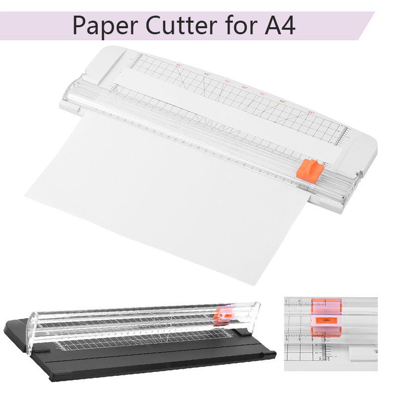 Portable A4 Plastic Base Paper Cutter Paper Photo Trimmers Scrapbook Trimmer Cutting Mat Machine Office Work Cutting Supplies