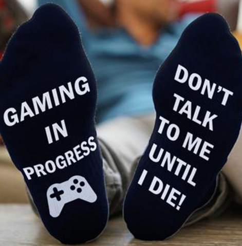 1pair Letter Style Socks DO NOT DISTURB I`M GAMING Socks Women Men Funny Unisex Printed Happy Casual Cotton Couple Socks