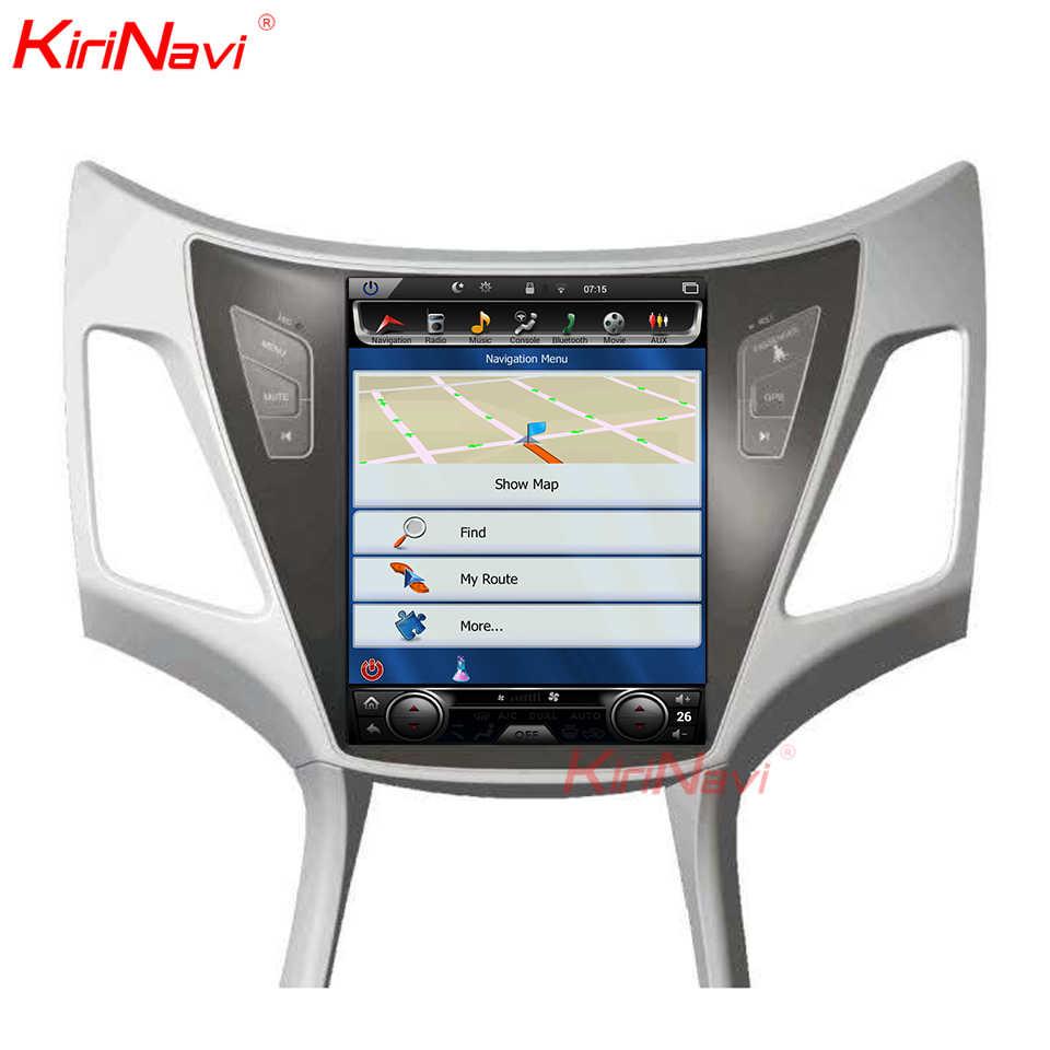 KiriNavi dikey ekran Tesla tarzı 10.4 inç android 7.1 araba radyo için Hyundai Elantra Android multimedya GPS navigasyon 2011 +