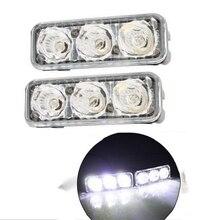 2 個 Warterproof Led カーデイタイムランニングライト 12 12v 車フォグライトスーパーブライト 6000 6000K DRL LED ランプのための車