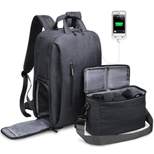 DSLR Waterproof Camera Bag Nylon Multi-functional Outdoor Wear-resistant Camera Backpack For Canon/ Sony/Nikon Light Weight Bag protective fold resistant anti shock nylon inner padded bag for canon 60d nikon 5d grey
