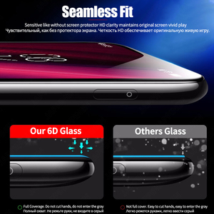 Image 2 - 6D Full Cover Tempered Glass for Xiaomi Mi 9T Pro 9 SE A2 Lite A3 Pocophone F1 F2 Redmi Note 9S 8 Pro 8T Screen Protector Glass