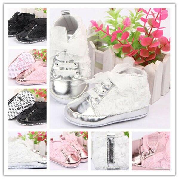 2019 Baby Kid Girl Toddler Non-slip Soft Sole Crib Sneaker Shoes Prewalker Boots
