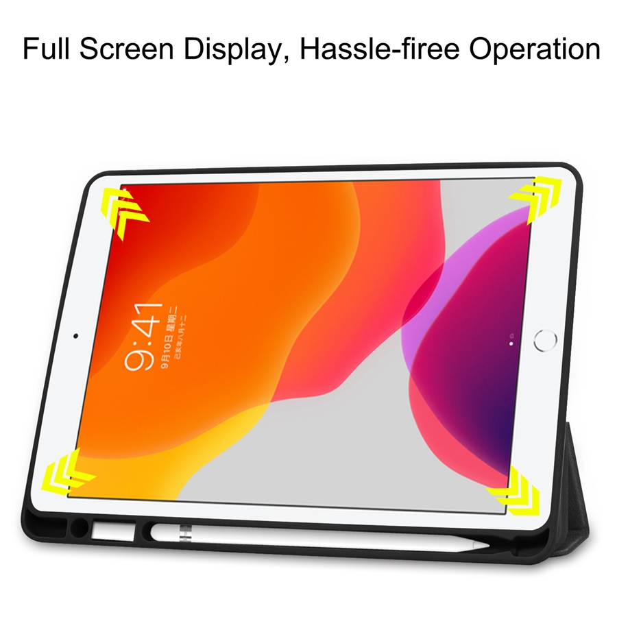Magnetic PU Leather Case For Apple iPad 10 2 2019 with Pencil Holder Cover For iPad