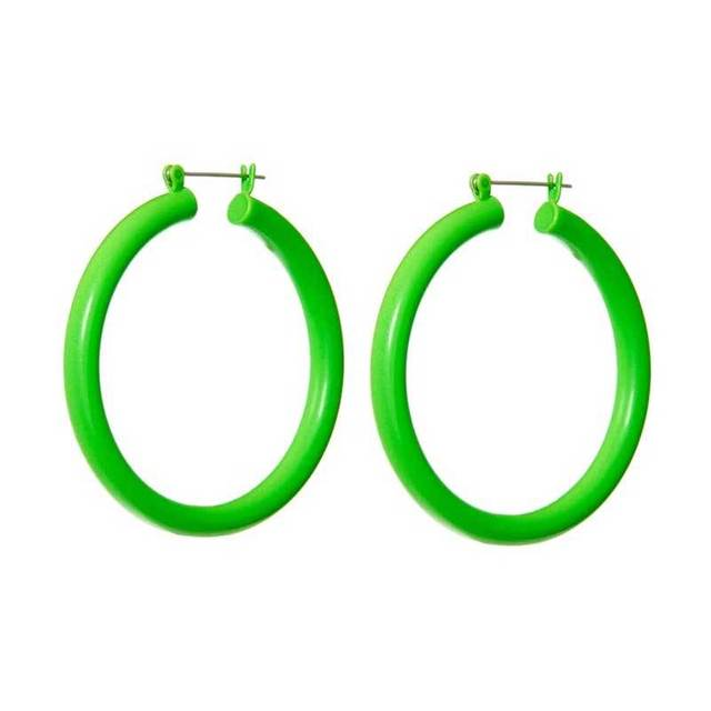 2019 New Anti allergy Steel Needle Exaggerated Candy Color Big Hoop Earrings For Women Red Green.jpg 640x640 - 2019 New Anti-allergy Steel Needle Exaggerated Candy Color Big Hoop Earrings For Women Red Green Blue Colorful Statement Earring