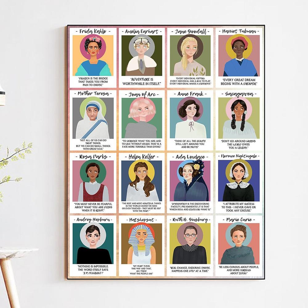 Póster de la historia de las mujeres grandes e impresas cuadro sobre lienzo para pared carteles nórdicos e impresiones cuadros de pared para sala de estar