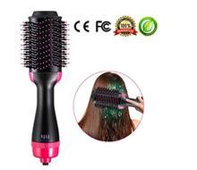 2 ב 1 משולבת שיער מייבש & מעניק נפח מסתובב שיער מברשת רולר לסובב Styler מסרק סטיילינג יישור קרלינג ברזל
