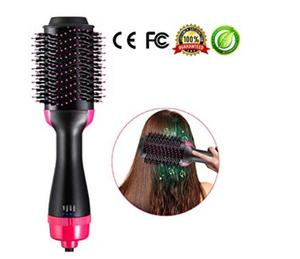 Image 1 - 2 in 1 Multifunctional Hair Dryer & Volumizer Rotating Hair Brush Roller Rotate Styler Comb Styling Straightening Curling Iron