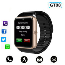 Hot Smart Horloge GT08 Klok Sync Notifier Ondersteuning Sim Tf Card Bluetooth Connectiviteit Android Telefoon Smartwatch Legering Smartwatch(China)
