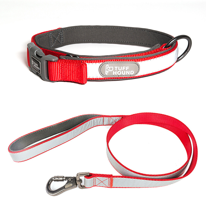 Dog Neck Ring Pet Supplies Reflective Fully Collar Pet Traction Set Adjustable Puppy Cat Walking Run Harness Rope