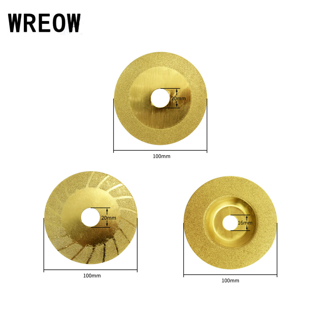 4inch 100 Mm Diamond Grinding Wheel Disc Corundum Polishing Disc Pads Grinder Cup Jade Glass Metal Rotary Tool For DIY Cutting