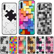 Puzzel Kleur Speelgoed Cube Game Telefoon Case Voor Samsung A20 A30 30S A40 A7 2018 J2 J7 Prime J4 plus S5 Note 9 10 Plus(China)