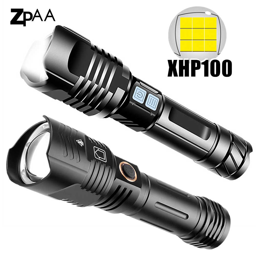 USB Rechargeable Powerful LED Flashlight Lamp Aluminum Alloy Camping Torch B