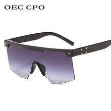 OEC CPO Oversized Vintage Sunglasses Women Men Brand Designer Retro Big Square Sun Glasses Shades Large Gradient Glasse O173