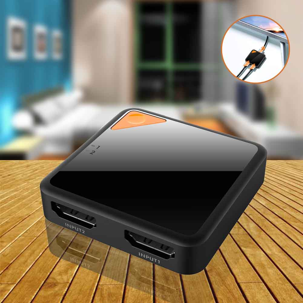 High Speed Bi Direction HD 4K Port HDMI Switcher 2 In 1 Out Vedio Plug And Play Professional Screen Splitter Sharing Monitor