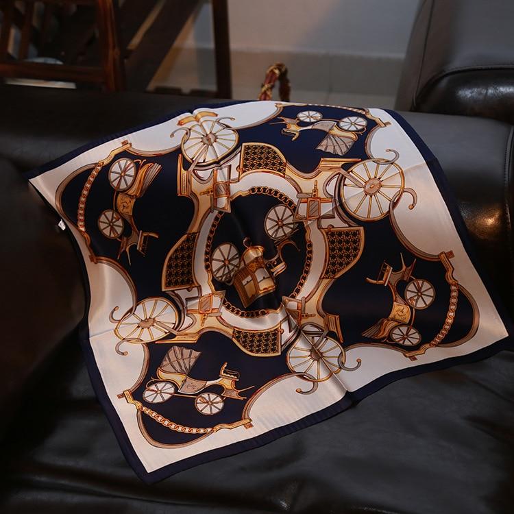 New Silk Scarves Mulberry Silk Blue