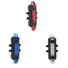 Portable bicycle light rechargeable LED taillight USB rear taillight safety warning bicycle light flash tail light(China)