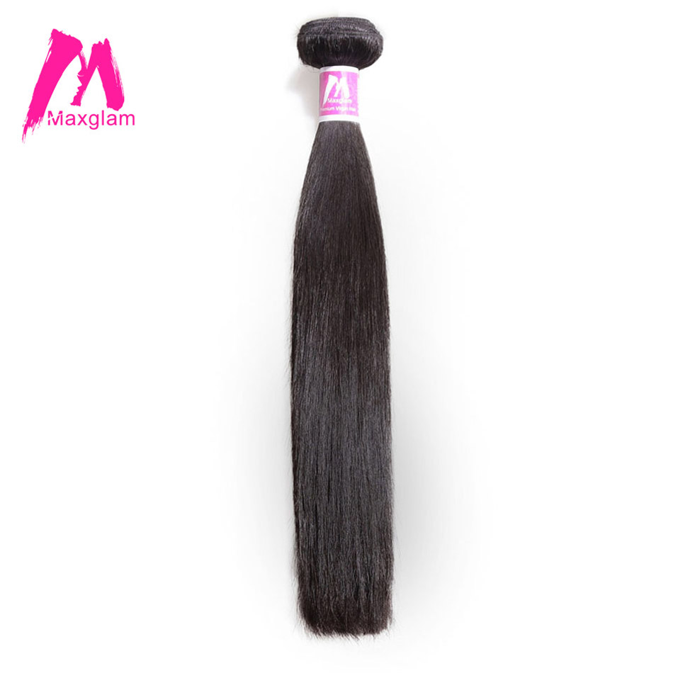 Maxglam Human Hair Bundles Straight Brazilian Hair Weave Bundles Extension Remy Hair Free Shipping