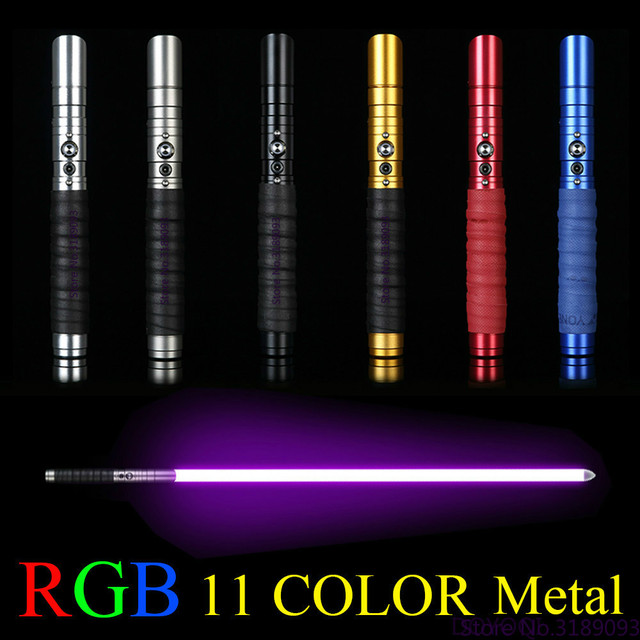 11 Color Lightsaber Metal Sword RGB Laser Cosplay Boy Gril Toy Luminous Kids Gift Light Outdoor Creative Wars Toys Stick Saber