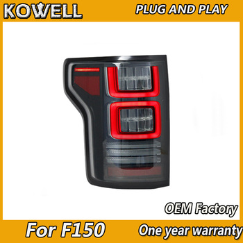 KOWELL Car Full LED Tail Lamp for Ford F150 Tail Lights 2015-2018 for USA F-150 Raptor Version with Red Signal