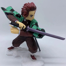 цена на Anime Demon Slayer Kimetsu no Yaiba Kamado Tanjirou PVC Action Figure Collectible Model doll toy 15cm