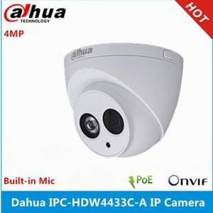Image 2 - Dahua IPC HDW2431T AS S2 4MP POE dahili MiC SD kart yuvası IR 30M yıldız kamera ve IPC HDW4433C A 4MP dahili mikrofon IP kamera