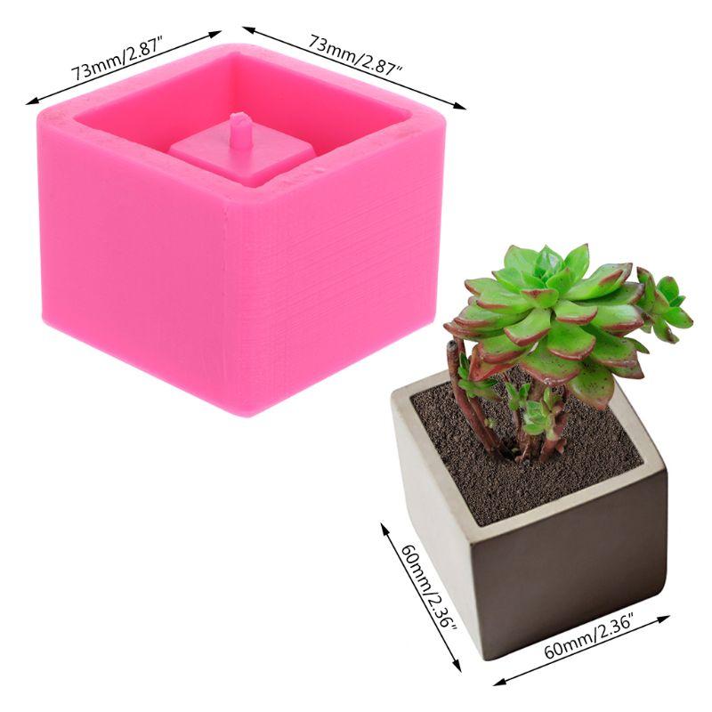 Cube Concrete Silicone Mold Planter Flower Pot Cement Vase Mould Craft Handmade Garden Decoration Tool
