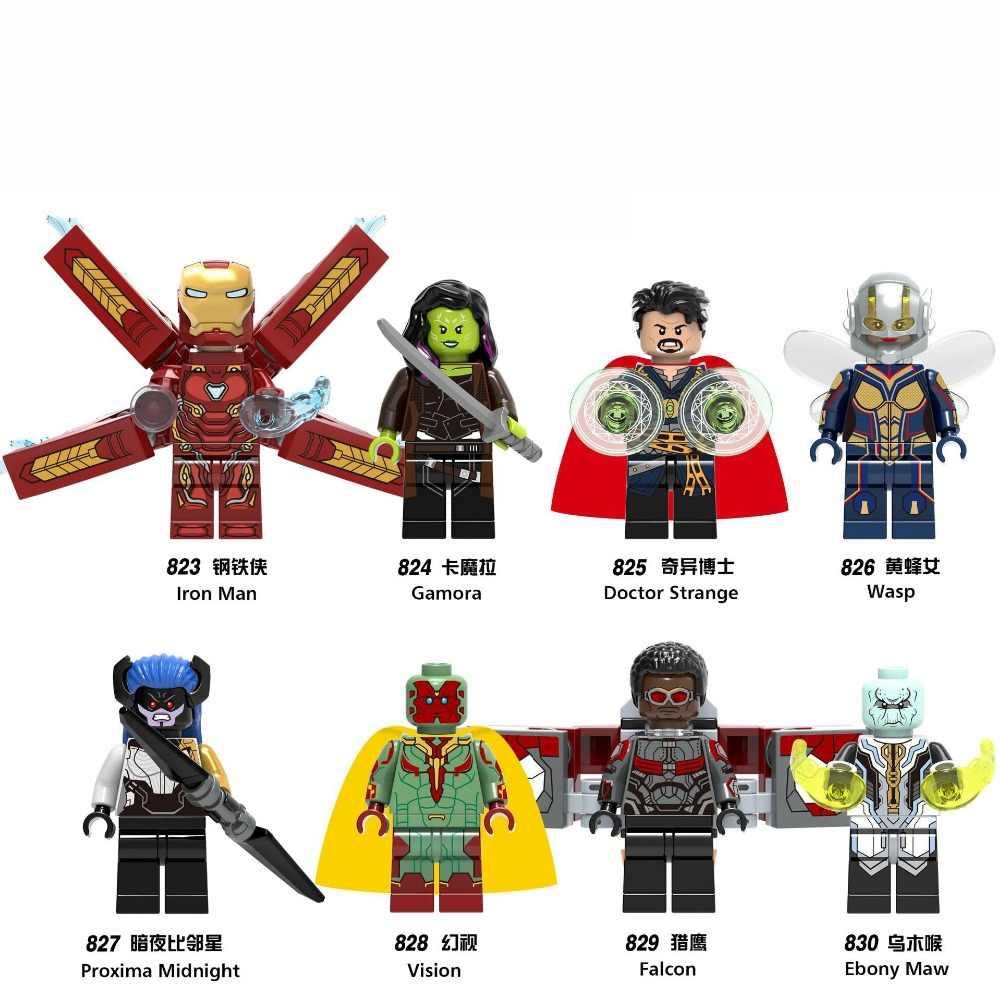 מארוול ספיידרמן נוקמי 3 אינפיניטי מלחמת תאנסו כוכב אדון אפוטרופוסים של גלקסי עכביש איש ברזל THOR אבני בניין צעצועי דמויות