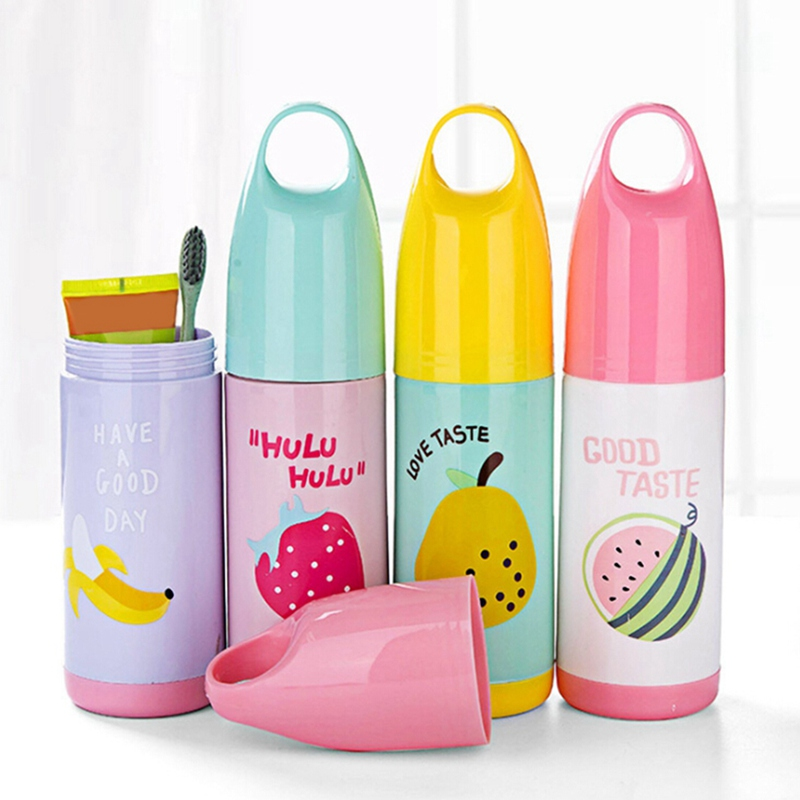 Travel Portable Toothbrush Storage Box Cute Fruits Pattern Toothbrush Container With Lid Cover Case StorageTravel Accessories K image