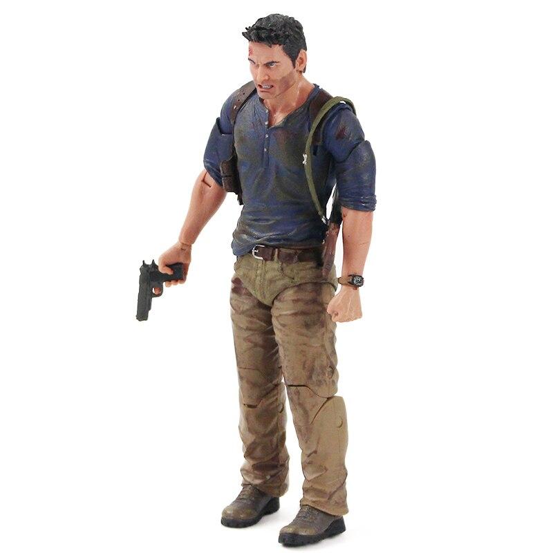 H3091b23d79cb4859a83ae94760c35d654 Action Figure Uncharted 4 nathan drake arma edição final figura de ação brinquedo de modelo colecionável