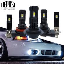 цена на 2Pcs H7 H11 H1 H3 LED Bulb Super Bright H8 9006 HB4 LED Car Fog Lights 12V 24V 6000K White Driving Running Lamp Auto Led