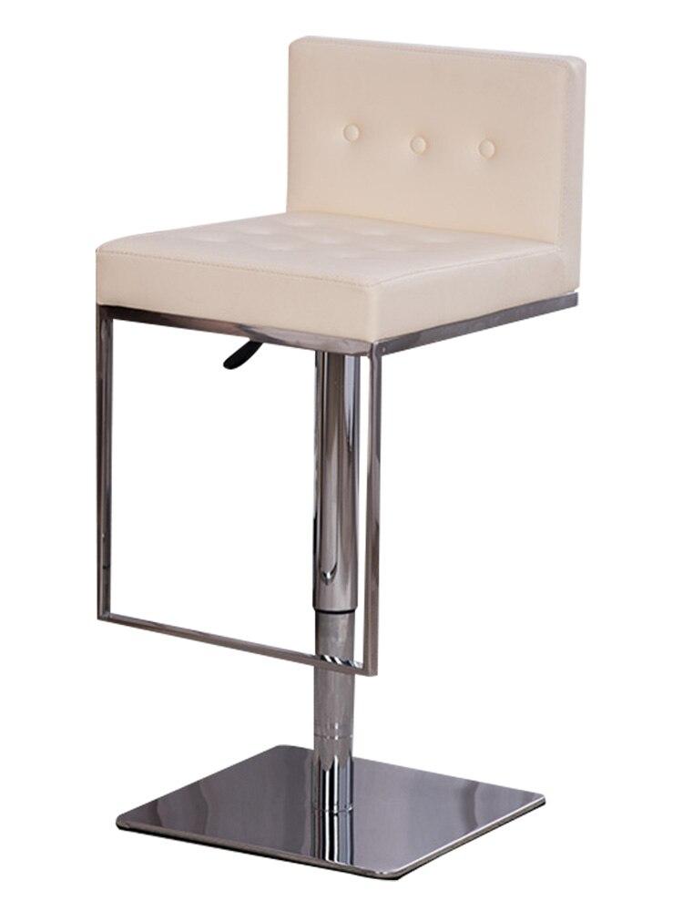 Bar Stool Lift Bar Chair Backrest Bar Chair Domestic Stainless Steel Rotary Lift Chair Bar Reception Chair
