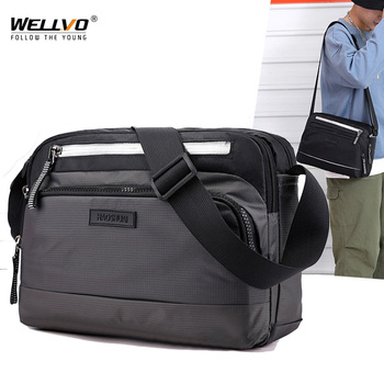 Men's Crossbody Bag Messenger Bags Male Waterproof Nylon Casual Satchel Shoulder School Boys Bags Handbag Small Briefcase XA1C aerlis men messenger shoulder bag canvas leather business briefcase casual solid zipper handbag male satchel crossbody bags 4506