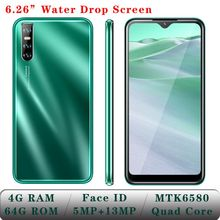 Smartphones A3 4GB RAM 64GB ROM Quad Core WiFi 6 26 #8243 Android Mobile Phones Water Drop Screen 13MP Face unlocked Cheap Celulares cheap BYLYND Detachable Face Recognition Up To 48 Hours 3200 Adaptive Fast Charge Smart Phones Bluetooth 5 0 Capacitive Screen