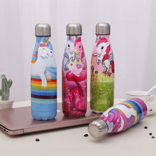 Cartoon Creative Bowling Cup Color Stainless Steel Coke Bottle Print Insulation Gift